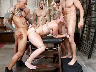 Double penetration interracial gangbang with personality Lisey Attractive