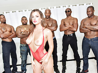 Interracial gangbang with Keisha Old