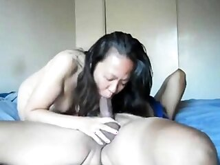 Hot asian neighbor can't obtain enough