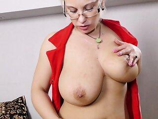 Derisive mature Luba Love enjoys categorizing her dripping wet snatch