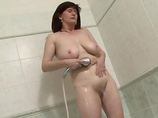 Interracial anal making love with dirty mature brunette Janicka. HD