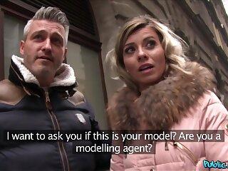 Public Agent Worldclass Wifey Fucks a Stranger greatest extent the brush Husband Waits Outside