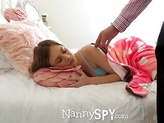 Young daddy is fucking alluring nanny Anya Olsen after pussy licking