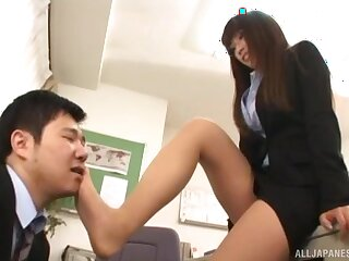Beautiful Asian hottie gets her pussy plowed hard from defeat